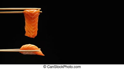 Footage fresh sushi food background