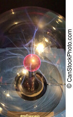 Footage Full HD Red Energy Plasma Ball lamp Nucleus Loop ...