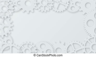 Footage modern mechanism industrial concept animation. Technology gears background. 4K