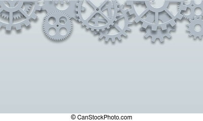 Footage modern mechanism industrial concept. Technology gears background. 4K animation