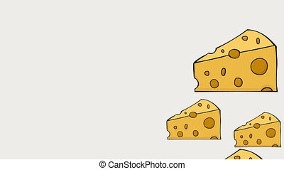 footage motion cheese background. 4K animation