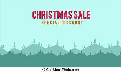 Footage of a beautiful village. Christmas Sale
