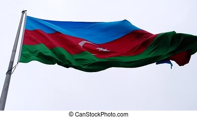 Azerbaijan flag flying in the wind - Footage of Azerbaijan...