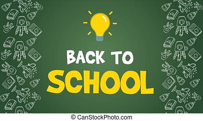 Footage of back to school background