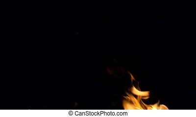 Footage of burning fire