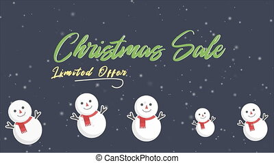 Footage of greeting Santa clause. Chirstmas sale collection