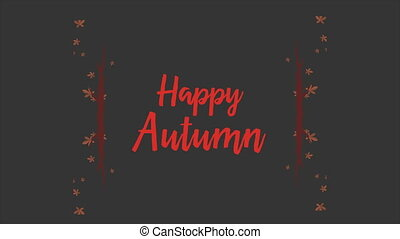 Footage of happy autumn background