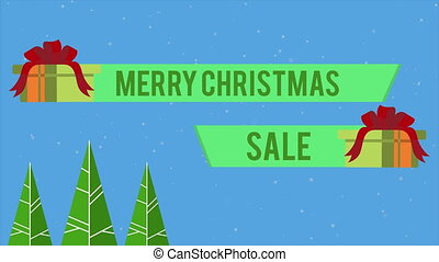 Footage of merry Christmas gift Sale