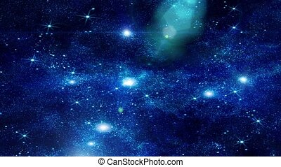 Footage of space with multiple stars