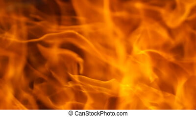 Footage red fire close up. HD video. 120fps