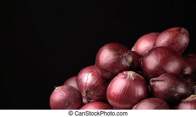 rotating red onions background