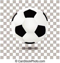 footbal, ボール, 隔離された, イラスト, 現実的, ベクトル, サッカー