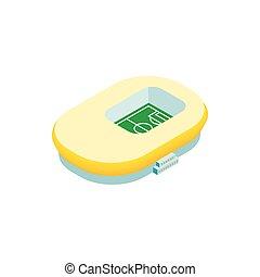 footbal, 3d, isometric, stadion, ikona