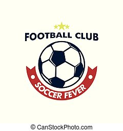 footbal, balle, emblème, club, grand, fièvre, football