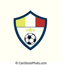 footbal, febre, emblema, escudo, clube, côncavo, futebol