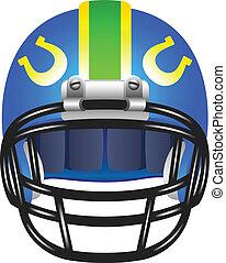 Footbal helmet with horseshoe