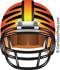 Footbal helmet with tiger stripes