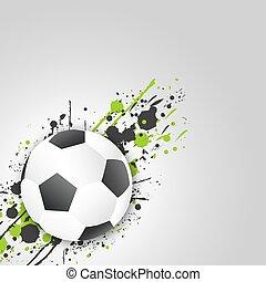(football, ボール, グランジ, effect., vector., ball), サッカー