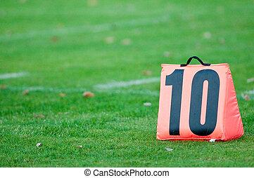 Football 10 yard marker
