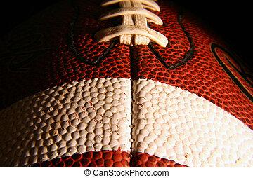 Close up of a football.