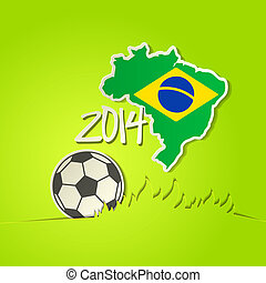 Football 2014  ball vector background
