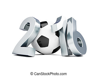 football 2016.3d Illustrations on a white background