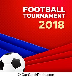 Football 2018 poster design with soccer ball