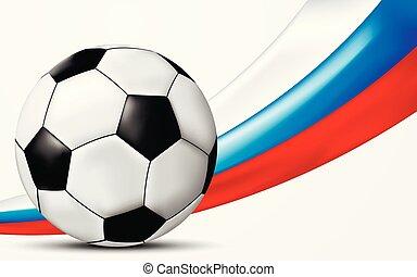Football 2018 World Championship Background. Vector Illustration