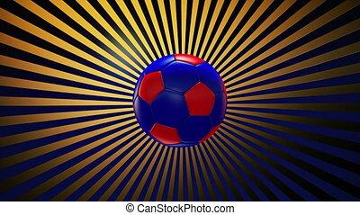 football, 3, balle, sunburst