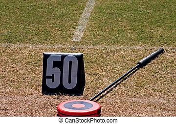 football 50 yard marker