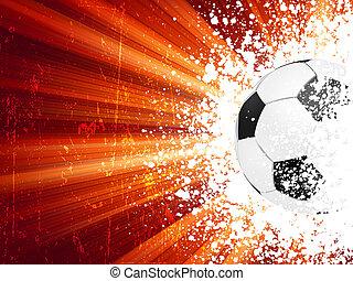 football, affiche, lumière bleue, burst., eps, 8