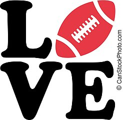 football américain, amour