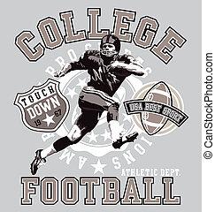 football américain, collège