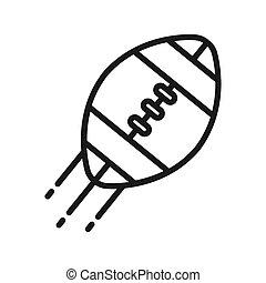 football américain, conception, illustration