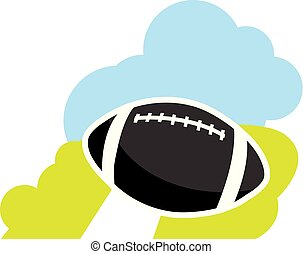 football américain, dessin animé, balle