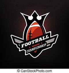 football américain, logo., championnat