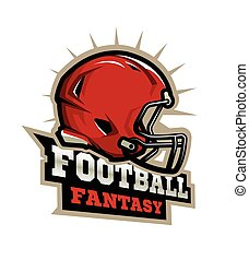 football américain, logo., moderne