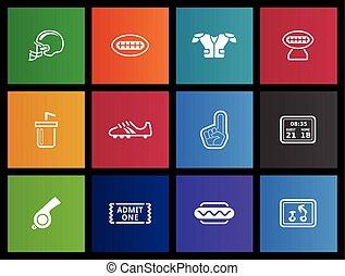 football américain, -, métro, icônes