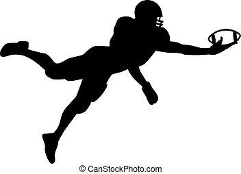 football américain, quarterback, sauter