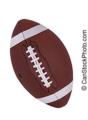 Football - American football isolated over a white...