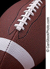 Football - American football up close detail showing laces...