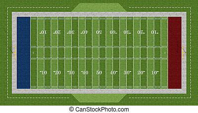 football, americano, campo