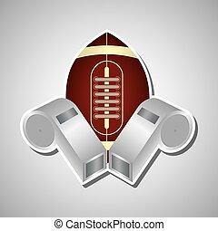 football americano, disegno, icona