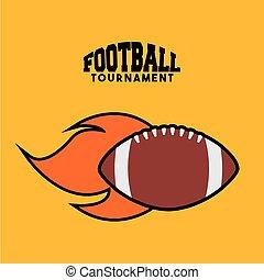 football americano, disegno