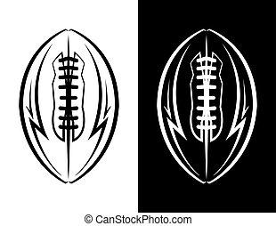 football americano, emblema, illustrazione, icona
