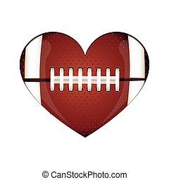 football americano, immagine, icona