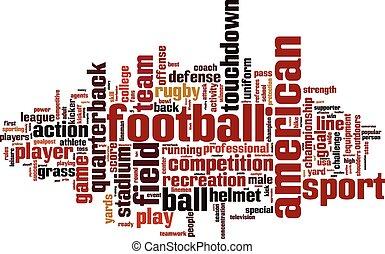 football americano, parola, nuvola