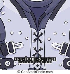 football americano, protettore torace