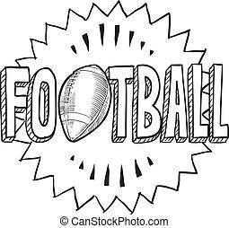 football americano, schizzo