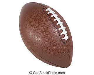 An Isolated football With laces showing